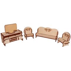 Мебель для кукол серия Я дизайнер Гостиная, конструктор
