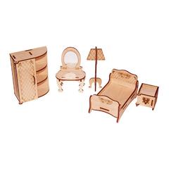 Мебель для кукол серия Я дизайнер Спальня, конструктор