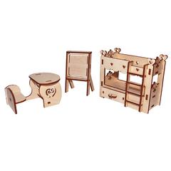 Мебель для кукол серия Я дизайнер Школьный уголок, конструктор