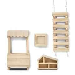 Набор деревянной мебели для домика «Сделай сам» Игрушки