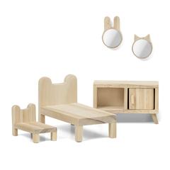 Набор деревянной мебели для домика «Сделай сам» Спальня