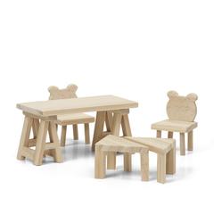 Набор деревянной мебели для домика «Сделай сам» Стол и стулья