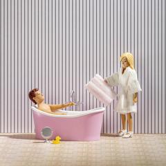 Набор мебели для домика Ванна с аксессуарами