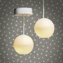 Освещение для домика Люстра с абажуром из рисовой бумаги 2 шт.