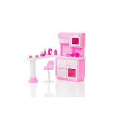 Кухня розовая для кукол