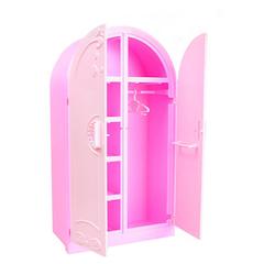 Шкаф розовый для кукол