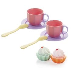 Игрушечная чайная пара с кексами