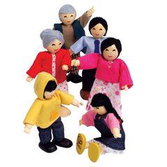 Набор мини-кукол Счастливая азиатская семья