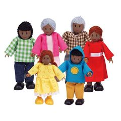Набор мини-кукол Счастливая афроамериканская семья