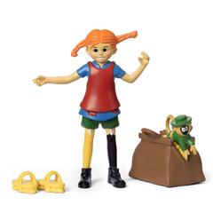 Набор кукол для домика Пеппи Длинный чулок и обезьянка