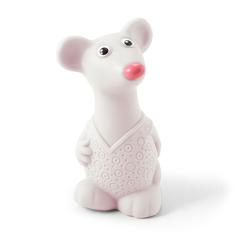 Резиновая игрушка Мышонок белый 12 см
