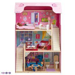 """Кукольный домик для Барби """"Вдохновение"""" с 16 предметами мебели и 2 лестницами"""