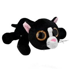 Мягкая игрушка Черный кот, 25 см