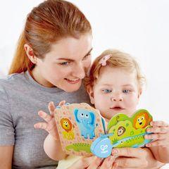 Игрушка - Детская книга Дикие животные