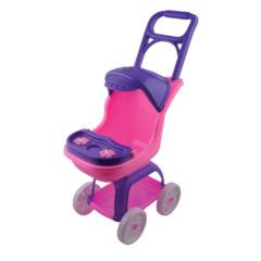Большая коляска в рузкой, козырьком и столиком, 70 см