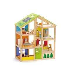 Кукольный дом для мини-кукол с мебелью 33 предмета