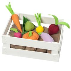 Набор овощей в ящике 12 предметов (с карточками)