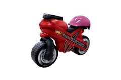 Каталка-мотоцикл МХ со шлемом ( шлем голубой,розовый указывать какой цвет!!)