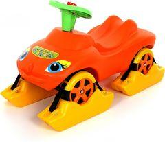 Каталка Мой любимый автомобиль оранжевая со звуковым сигналом многофункциональная