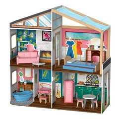 Кукольный домик с магнитным дизайном интерьера