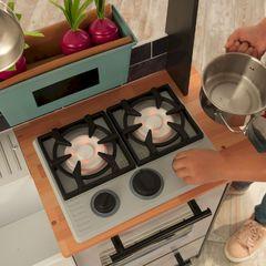 Кухня игровая Усадьба, остров, цвет: серый