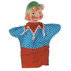 Кукла-перчатка Мальчик в шляпке 28 см