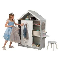 Детский шкаф для одежды, цвет: серый