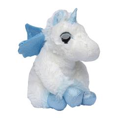 Мягкая игрушка Единорог голубой  20 см