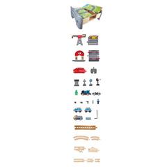 Железная дорога Сортировочный центр, 70 элементов