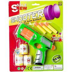 Пистолет пластмассовый с 3 мягкими пулями и мишенями