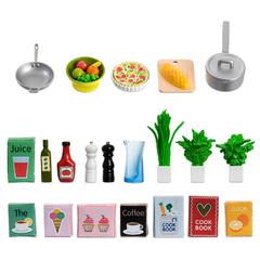 Аксессуары для домика Набор кухонных аксессуаров 21 штука