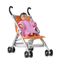 Аксессуары для домика Прогулочная коляска и малыш