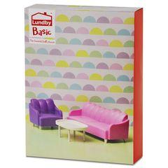 Кукольная мебель базовый набор для гостиной