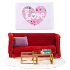 Кукольная мебель Смоланд Гостиная в красных тонах