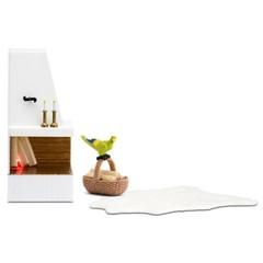 Кукольная мебель Смоланд Камин с декором