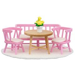 Кукольная мебель Смоланд Обеденный уголок розовый