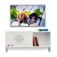 Мебель для домика музыкальный центр и телевизор белого цвета