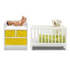Мебель для домика Стокгольм Кровать с пеленальным комодом