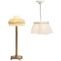 Освещение для домика Торшер и лампа с абажуром