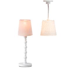 Освещение для домика Торшер и люстра с абажурами
