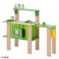 """Кухня из дерева для мальчиков и девочек """"Мятный лимонад"""" с 16 аксессуарами"""