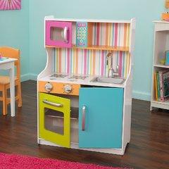 """Деревянная игровая кухня для девочек """"Делюкс Мини"""" (Bright Toddler Kitchen)"""
