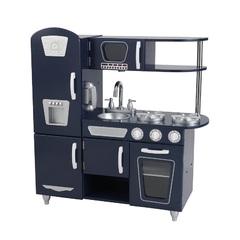 """Деревянная кухня для мальчиков """"Винтаж"""", цвет Синий (Navy Vintage Kitchen)"""