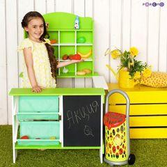 Деревянный игровой магазин для детей, цвет салатовый