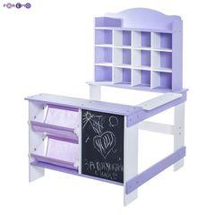 Игрушечный магазин из дерева, цвет фиолетовый