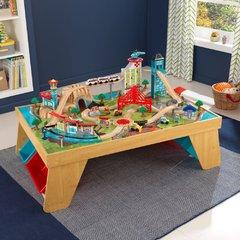 """Деревянная железная дорога со столом """"Аэросити"""""""