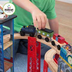 """Многоуровневая железная дорога """"Супер Хайвей"""" (Super Highway Train Set), 85 деталей"""