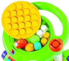 Каталка игровая с конструктором (13 элементов) в коробке (зелёная)