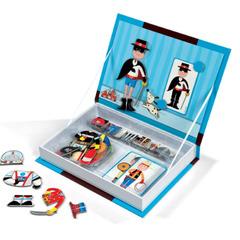 """Магнитная книга-игра """"Мальчишки в костюмах"""" (34 магнита, 8 костюмов)"""