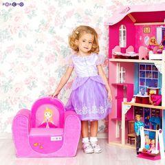 """Мягкое игровое кресло """"Принцесса"""", цв. Розовый"""